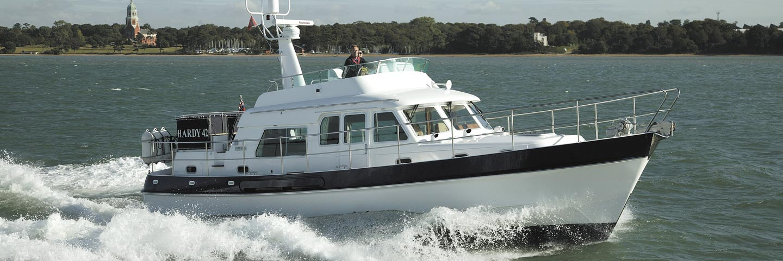 Hardy 42 motor boat