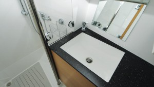 32DS bathroom sink and shower