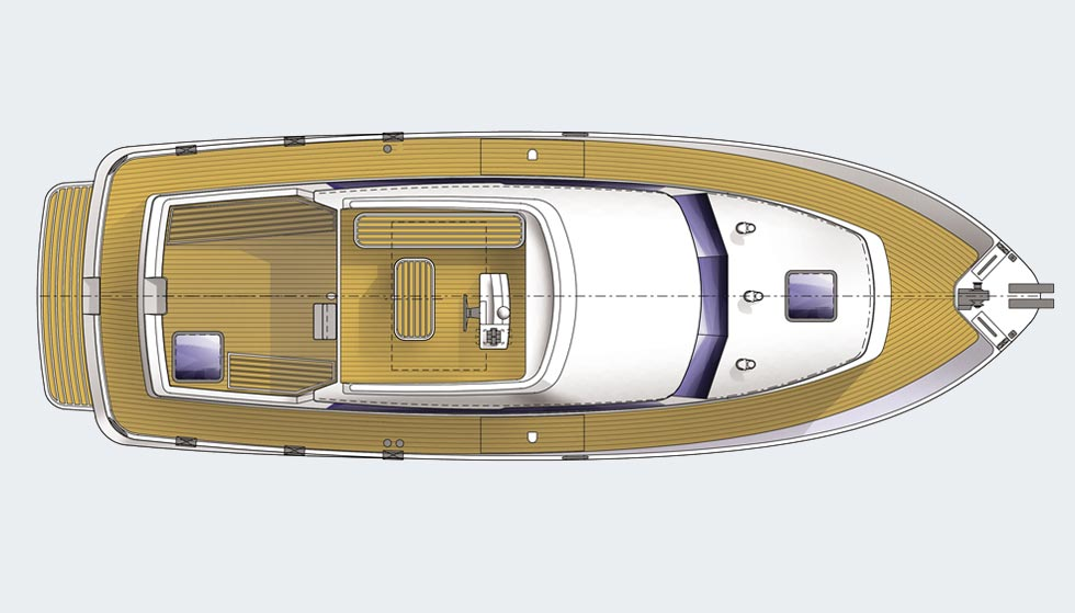 Hardy 36 deck plan