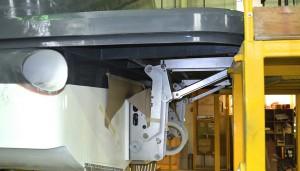 Hardy 65 bathing platform lowering mechanism