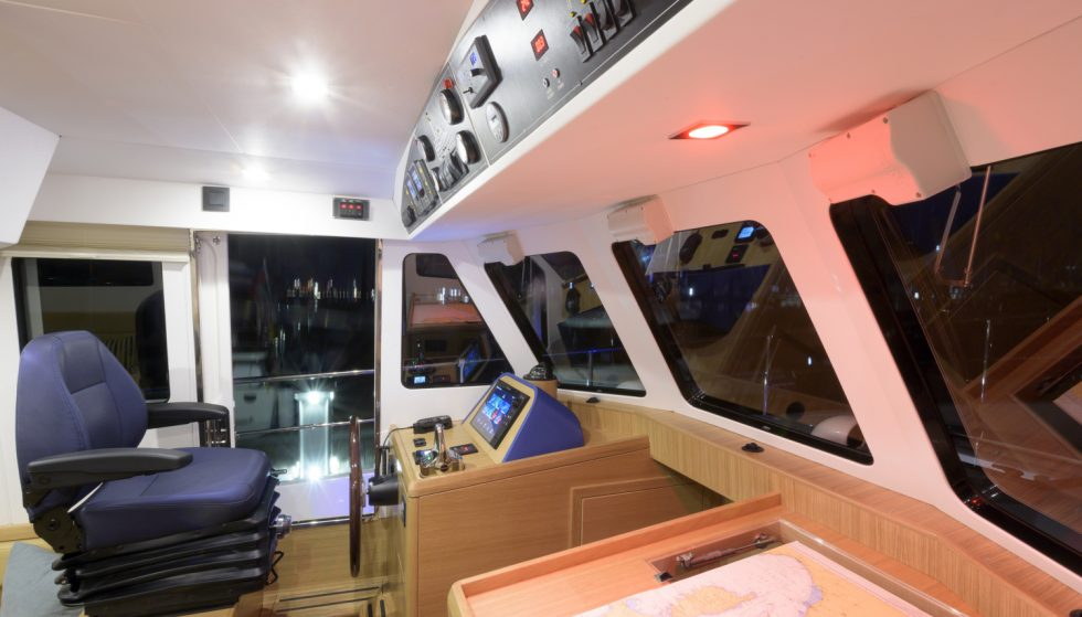 Hardy 36 wheelhouse